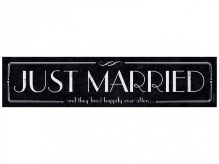 MATRICULA PARA COCHE NOVIOS  Just Married 3