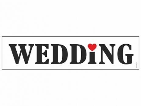MATRICULA PARA COCHE NOVIOS  Wedding