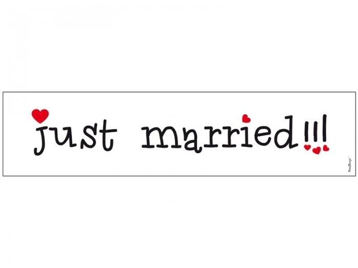 MATRICULA PARA COCHE NOVIOS  Just Married 4 - T73