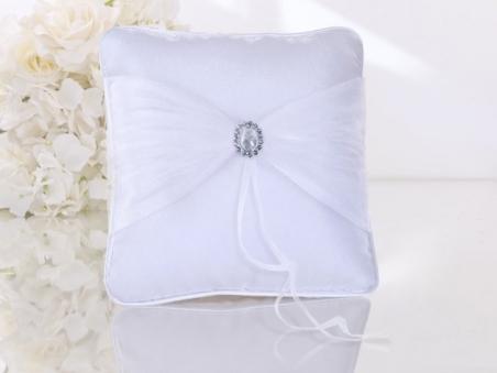 Cojín para anillos de boda - ELEGANTE CON BROCHE  Ref. 11
