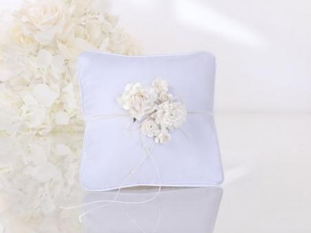 Cojín para anillos de boda - ELEGANTE CON FLORES Ref. M4