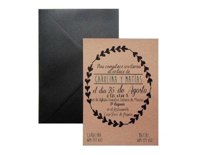 Invitación de boda - KRAFT CENEFA  -  FB103