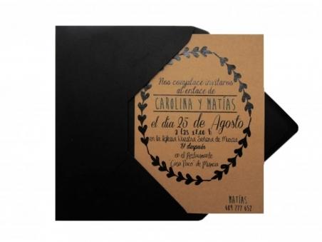 .Invitación de boda - KRAFT CENEFA