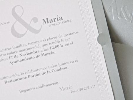 Invitación de boda - ES 538