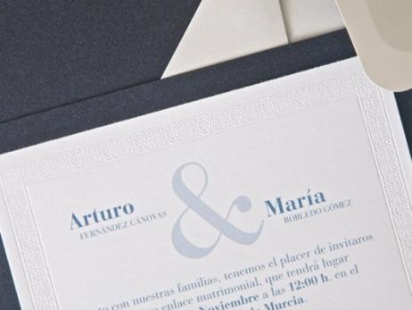 Invitación de boda - CLASICA ES 539
