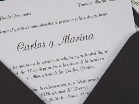Invitación de boda - ES 540