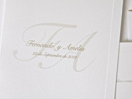 Invitación de boda - CLASICA CON FORRO DORADO   (ES546)