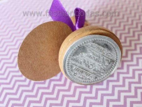 ejemplo sello personalizado redondo para bodas