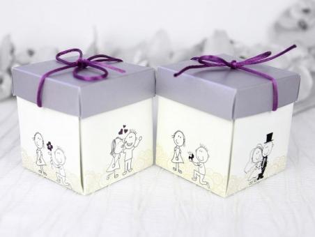 Invitación de boda diferente informal caja novios 39211