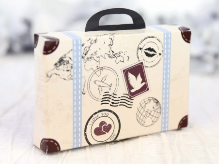 Invitación de boda barata maleta viajes 39223