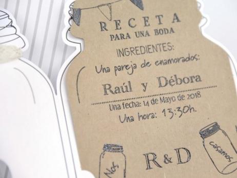Invitación de boda -  RUSTICA TARRO    (C22939)