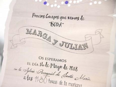 Invitación de boda -  CAJA COFRE    (C23739)