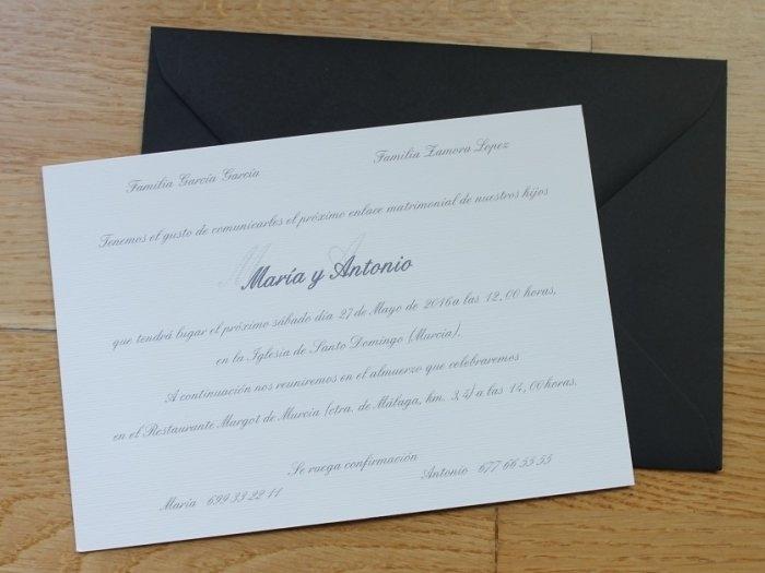 Invitación de boda - CLÁSICA NEGRA