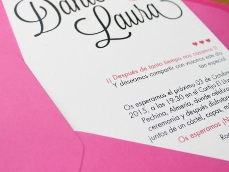Invitación de boda - CELOSIA FUCSIA