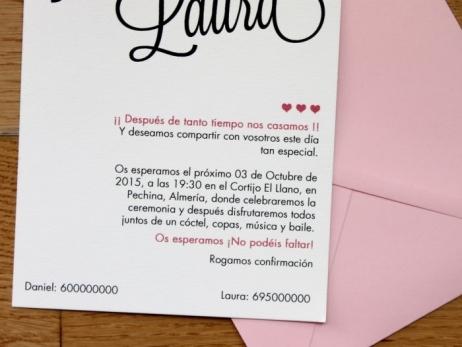 Invitación de boda - CELOSIA ROSA CLARO