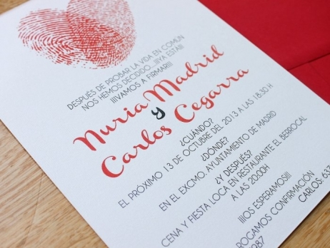 Invitación de boda - HUELLAS DACTILARES