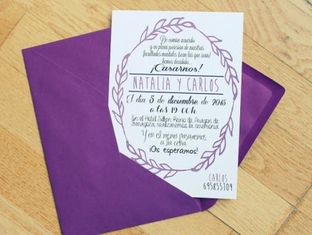.Invitación de boda - CENEFA 2 LILA