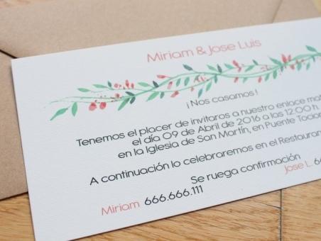 .Invitación de boda - PRIMAVERAL