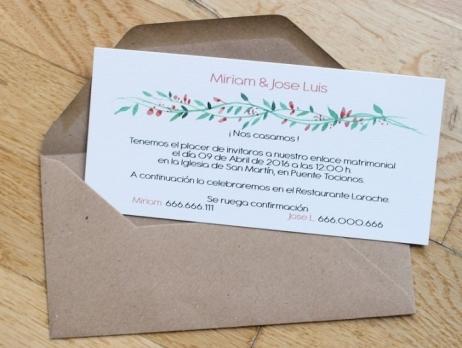 Invitación de boda - PRIMAVERAL