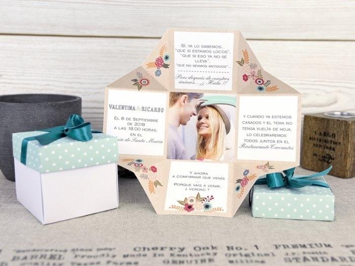 Invitación de boda - CAJA CON FOTO   (A50132)