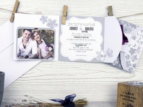 Invitación de boda - ROMANTICA CON FOTO    (A50732)