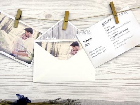 Invitación de boda - ROMANTICA CON FOTO    (A51232)