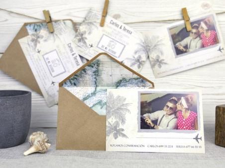Invitación de boda postal boda playa 32516