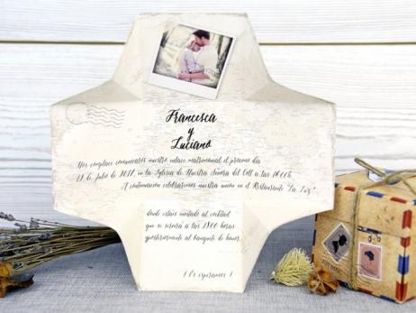Invitación de boda - CAJA CON FOTO    (A52132)