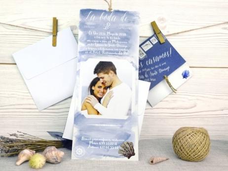 Invitación de boda - MARINERA CON FOTO   (A32523)