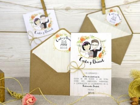 Invitación de boda - NOVIOS DIVERTIDOS   (A52632)