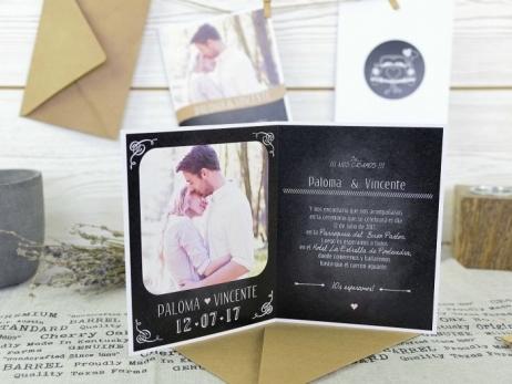 Invitación de boda - ELEGANTE CON FOTO     (A60332)