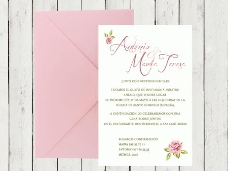 .Invitación de boda - SHABBY 3