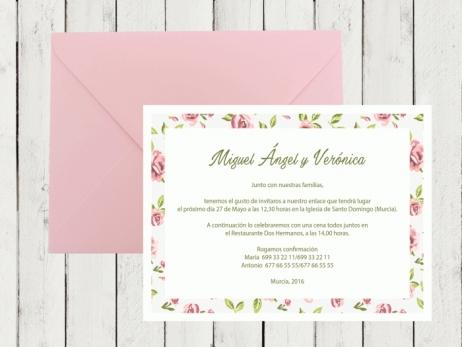 Invitación de boda - SHABBY CHIC