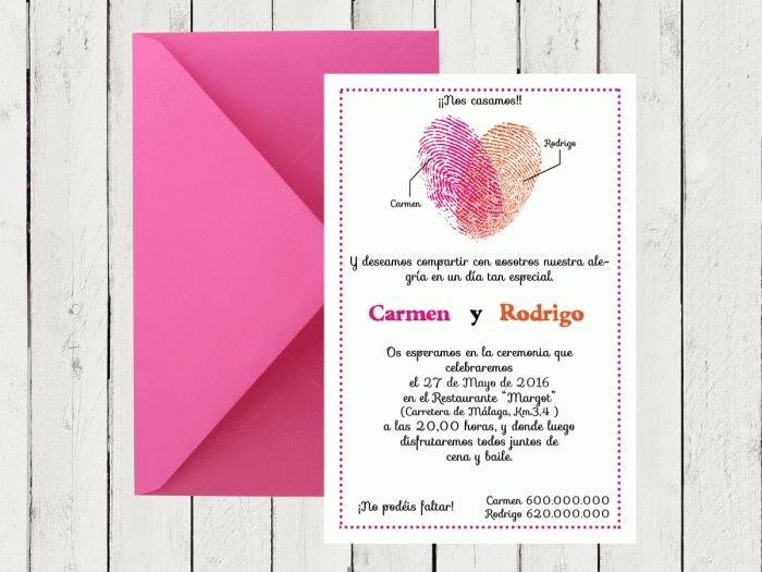 Invitación de boda - HUELLAS DACTILARES 2