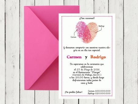 .Invitación de boda - HUELLAS DACTILARES 2