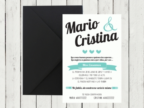 .Invitación de boda - MODERNA