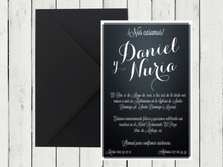 .Invitación de boda - PIZARRA