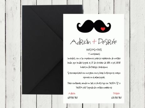 Invitación de boda - MOSTACHO
