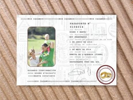Invitación de boda - PASAPORTE    (MIL20)