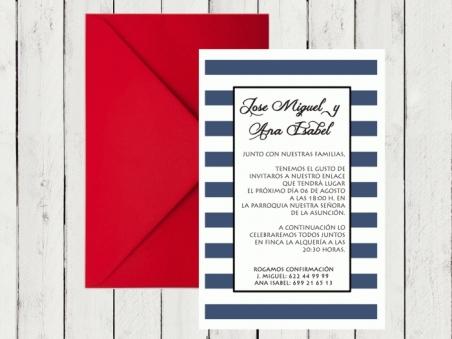 .Invitación de boda - MARINERA 2