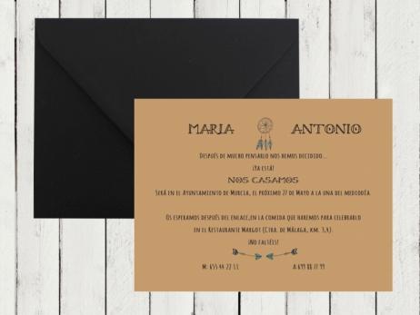 Invitación de boda - KRAFT BOHO