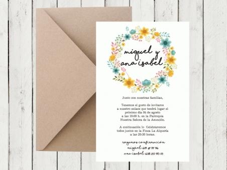.Invitación de boda - CARTEL FLORAL