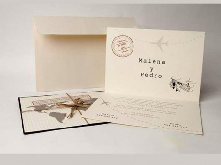 Invitación de boda - MAPA MUNDI (MA.40)