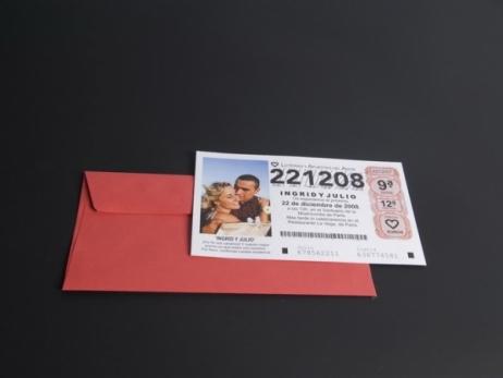 Invitación de boda - DÉCIMO DE LOTERÍA (MIL25)
