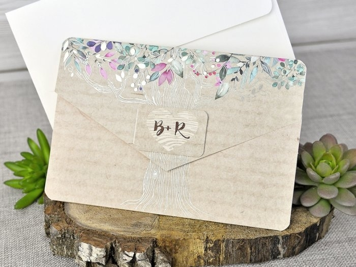 Invitación de boda - CARTA RUSTICA     (C30339)