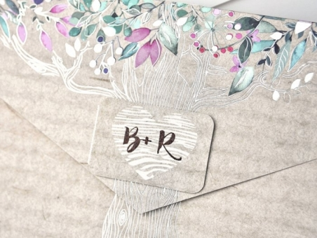 Invitación de boda 39303  rustica, campestre, madera
