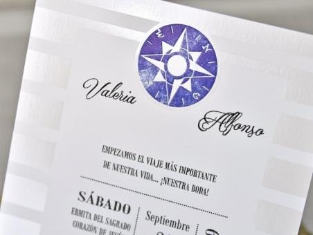 Invitación de boda MARINERA nautica playa 39300