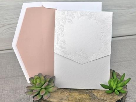 Invitación de boda - FLORES VINTAGE sin forro   (C31239)