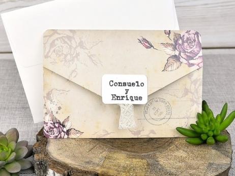 Invitación de boda - CARTA VINTAGE    (C31339)