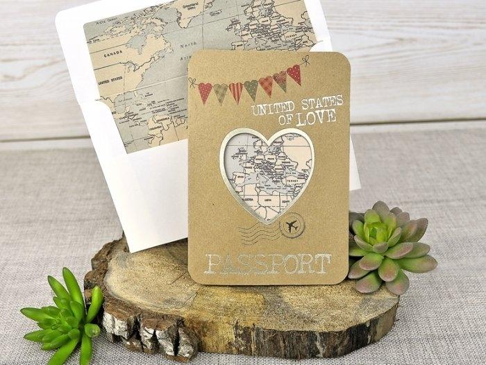 Invitación de boda - PASAPORTE VIAJE   (C31539)
